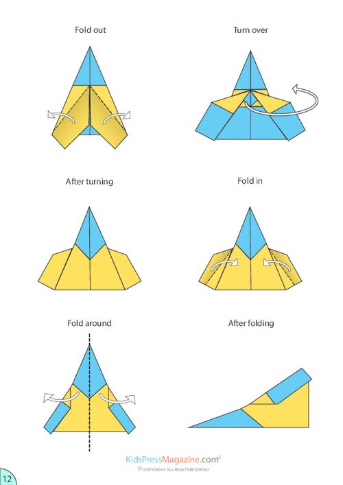 cool paper plane diagram simple ignition wiring airplane instructions sleek jet kidspressmagazine com