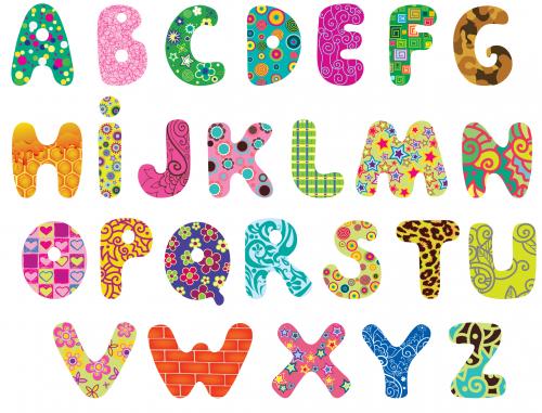 printable alphabet clipart