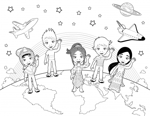 Detailed Coloring Page