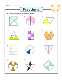 Fraction Worksheets  Basic Fraction Worksheets