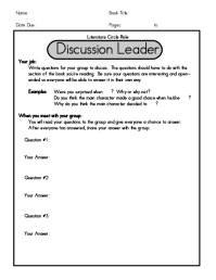 All Worksheets  Literature Circles Worksheets - Printable ...