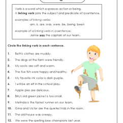 Diagramming Sentences Worksheets 5th Grade Dolphin Food Chain Diagram All » Linking Verb - Printable Guide For Children And Parents