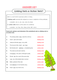 √ The Latest Action And Linking Verbs Worksheet Review
