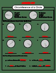 Circle Circumference Worksheet Free Worksheets Library ...
