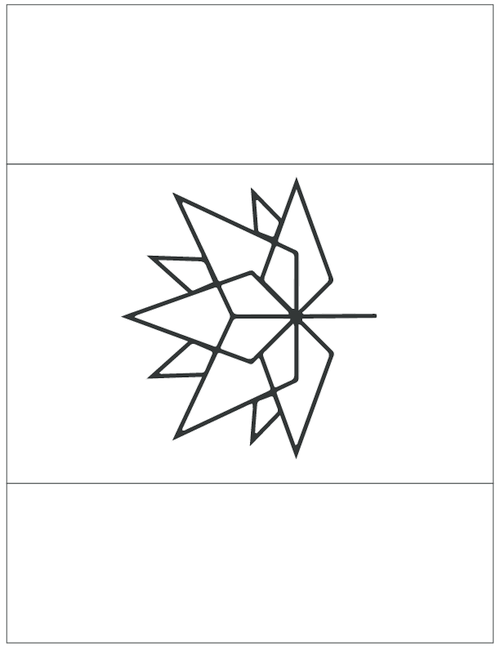 Canada 150 New Logo Flag Template for DIY Canada Day