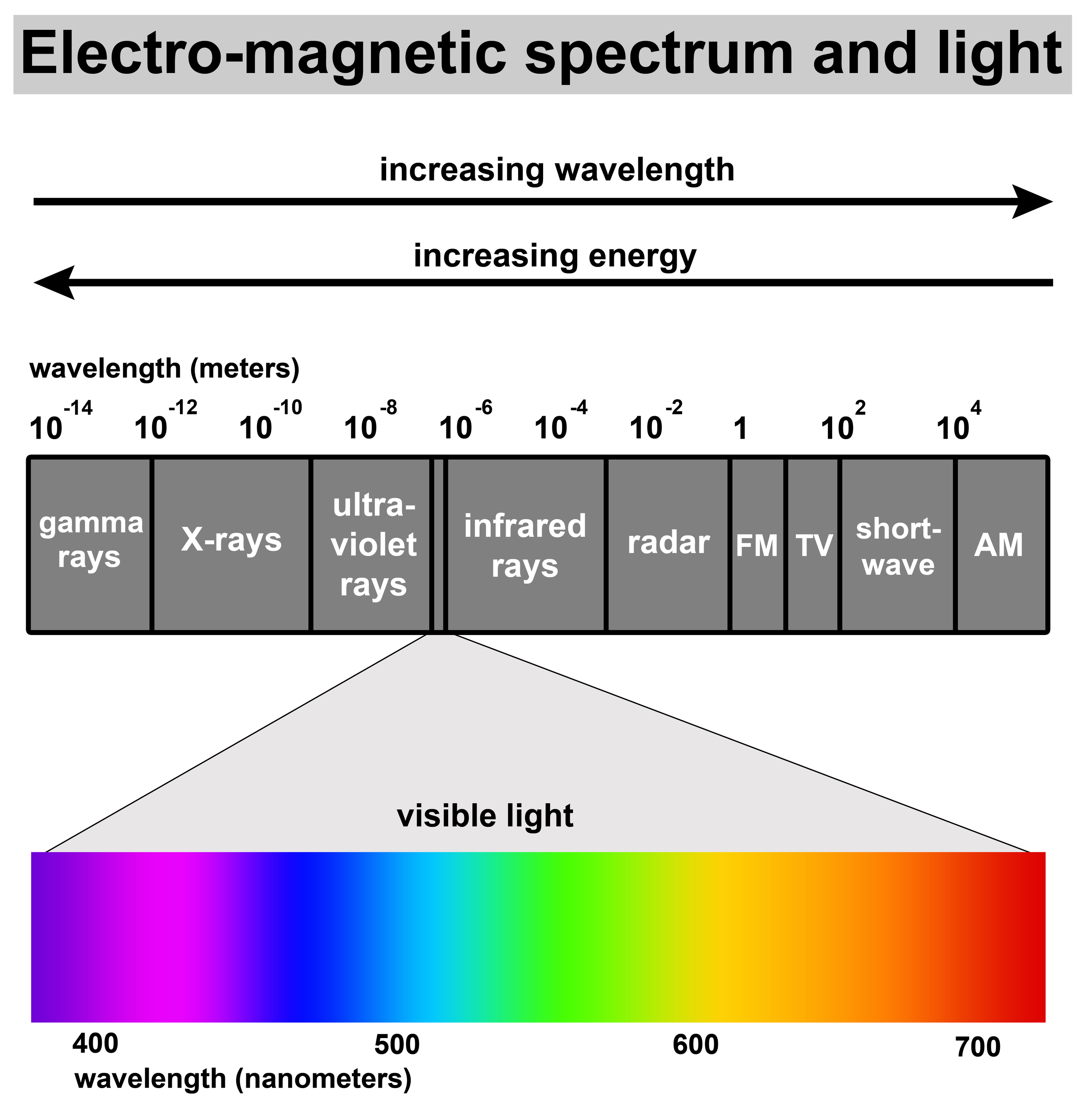 Visible Light And The Electro Magnetic Spectrum