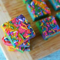 Unicorn Rainbow Cookie Bars