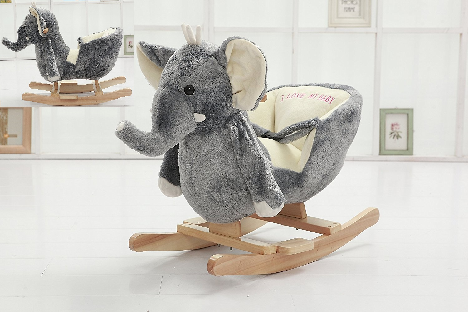Plush Toddler Chair Danybaby Rocking Elephant Chair Stuffed Plush Toddler
