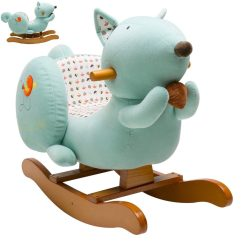 Animal Rocking Chair Modern Rolling Dining Chairs Labebe Squirrel Ride On Toy With