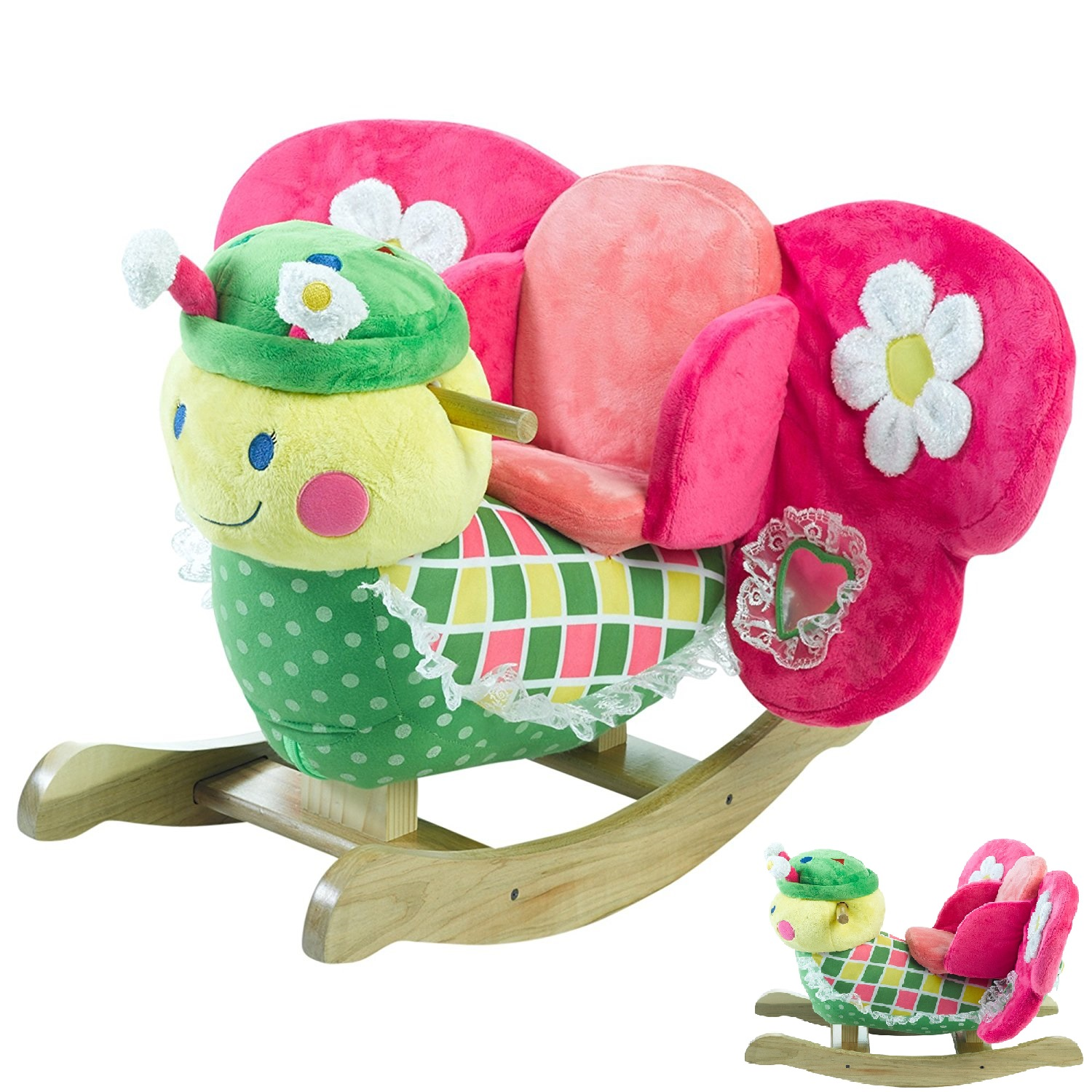 plush toddler chairs high chair cover zobo rockabye rocking butterfly with colorful attractive