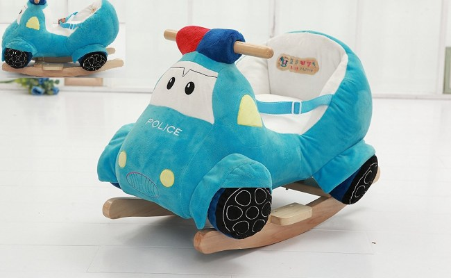 Police Car Ride On Toy With Chair Seat Belt Buckle Baby