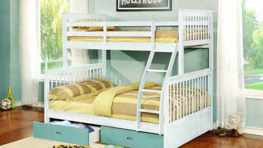 """The Apollo"" Twin over Full Bunk Bed w/ Trundle ""5 Colors"""