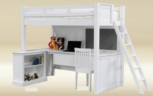 Student Twin Loft Bed with Storage - kidsroom.vip