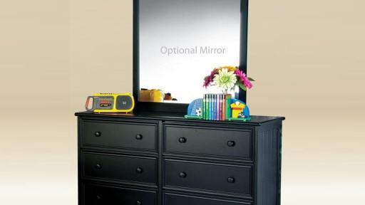 """Admiral Ardvark"" 6 Drawer Dresser and Mirror – 6 Colors"