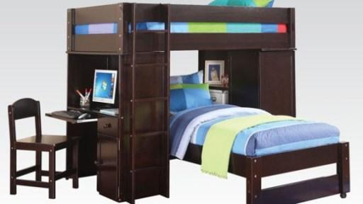 """""""Tom Sawyer"""" Espresso Loft Twin Bed"""
