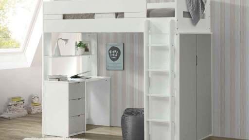 """Venice Toyshop"" Modern Twin Loft Bed – 4 Colors"