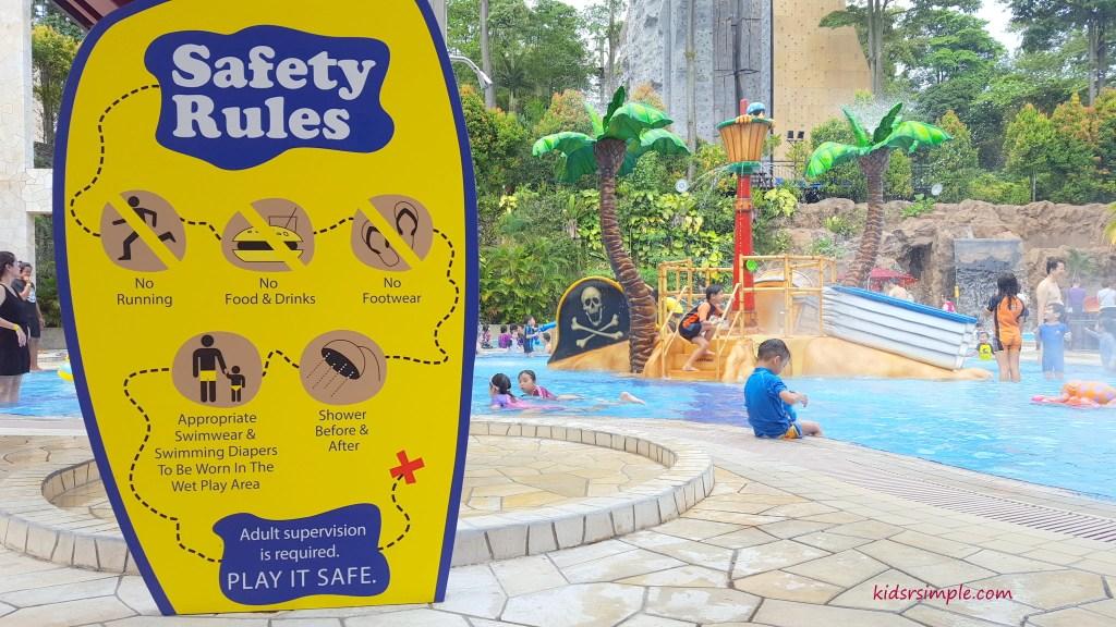 Water safety rules (Safra Yishun Pool)