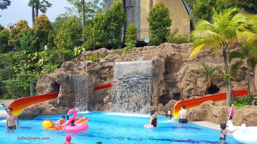 Rainbow slides (Safra Yishun Pool)