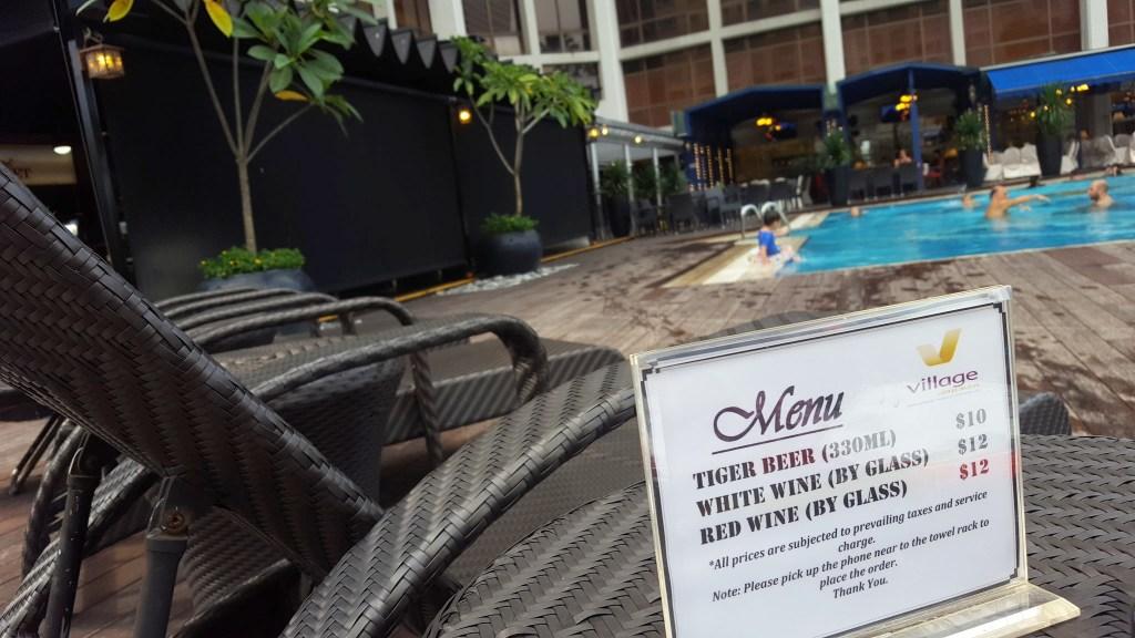 Swimming Pool Menu