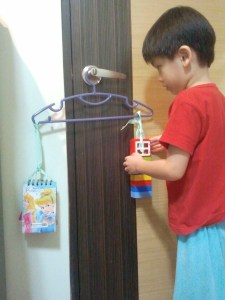 YH balancing with Lego blocks