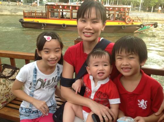 On the Singapore River Cruise