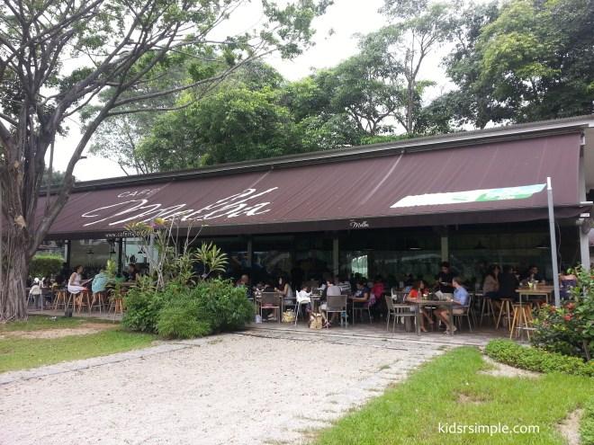 Cafe Melba stone pit
