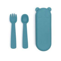 Feedie kinderbestek blauw