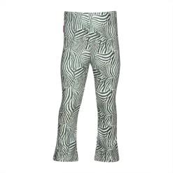 flared broek zebra print