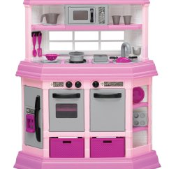 Kitchen Set For Girl Burgundy Decor American Plastic Toy Deluxe Custom Review