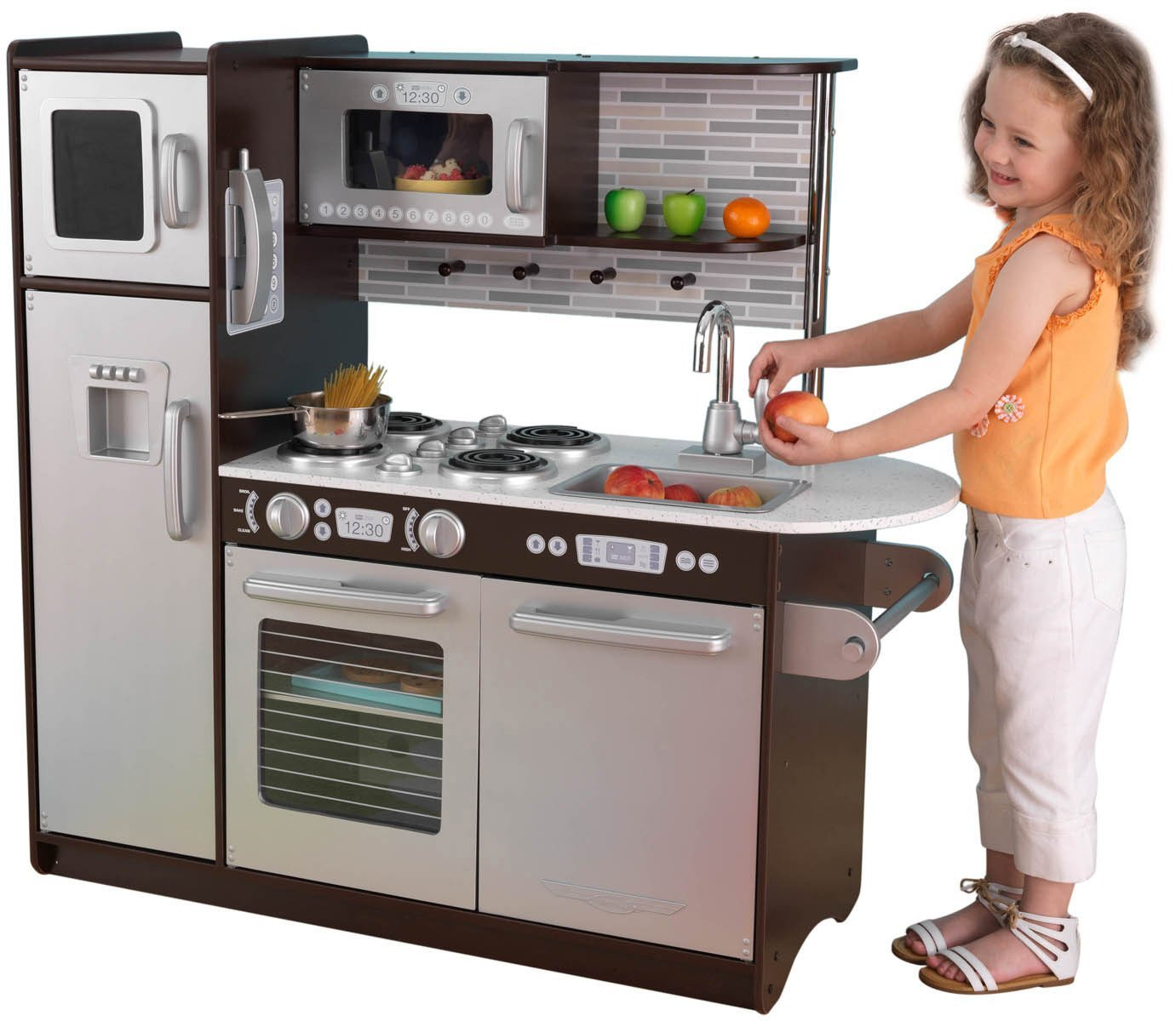KidKraft Uptown Espresso Kitchen Review  Pros And Cons