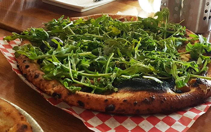 Dining in calgary at without papers pizza