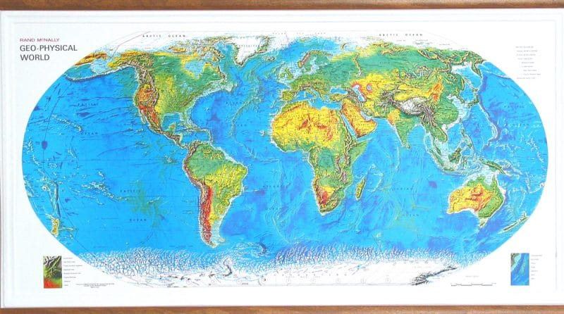 Use A Bumpy Map To Teach Geography To Kids - Raised relief map