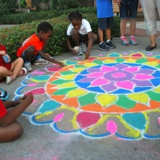 Diwali Rangoli Art from India: Chalk + Colored Sand