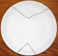 Paper plate for morpho craft- Kid World Citizen