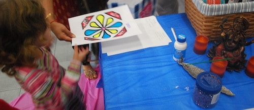 Easy Rangoli Craft- Kid World Citizen