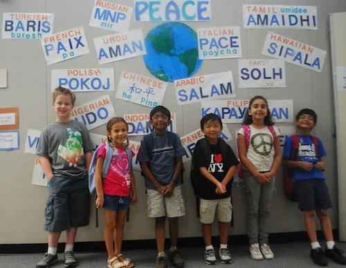 Peace in Many Languages- Kid World Citizen
