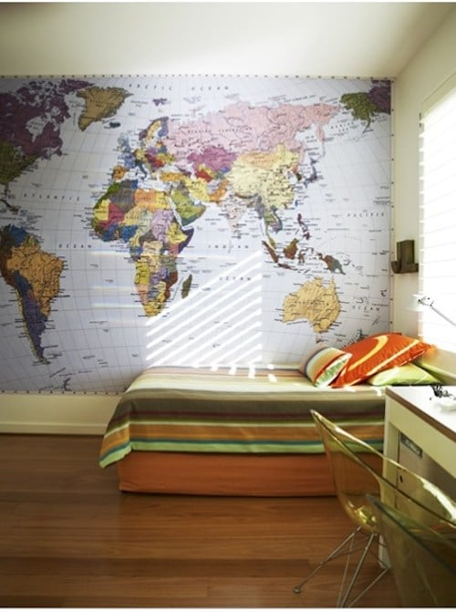 Wall-sized World Map- Kid World Citizen