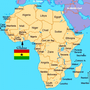 Ghana On A World Map.Highlife The Signature Music Of Ghana