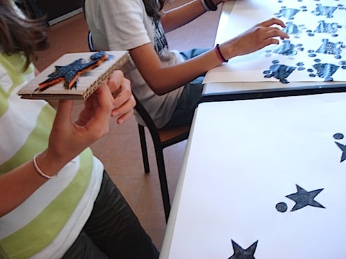 adinkra fabric painting of ghana lesson art project