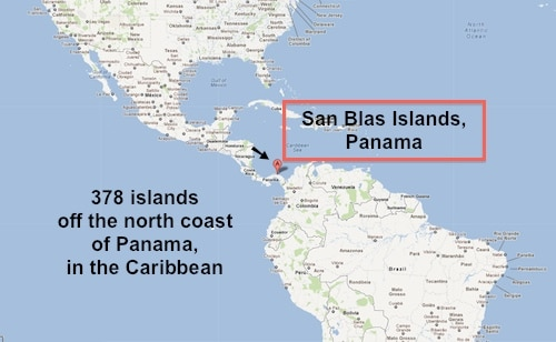 San Blas Islands Map- Kid World Citizen