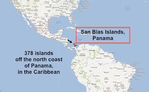 San Blas Islands Map- Kid World Citizen