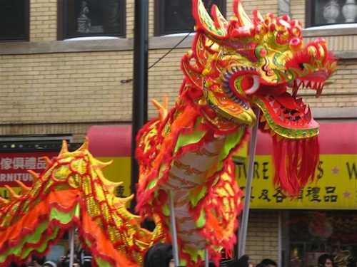 Dragon Parade at Chinese New Year- Kid World Citizen