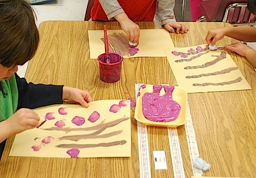 Chinese New Year Art Project Spring Blossoms- Kid World Citizen