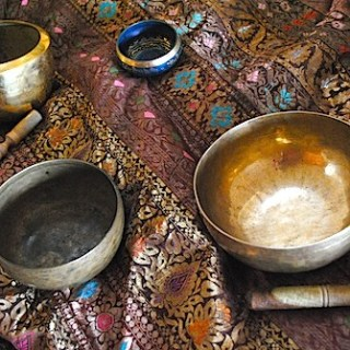 A Tibetan Singing Bowl and Nepalese Tingsha