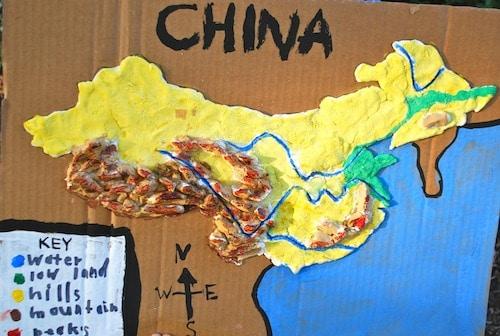 China 3D Salt Dough Map- Kid World Citizen
