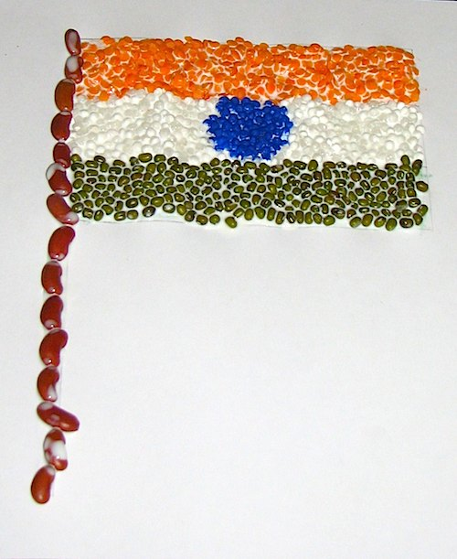 Pulses Indian Tricolor Flag Kid Craft- Kid World Citizen