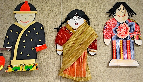 Multicultural Paper Dolls Art Project- Kid World Citizen
