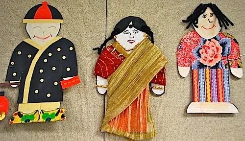 Multicultural Paper Dolls Art Project- Kid World Citizen