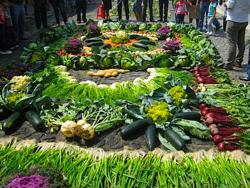 Fruit and Vegetable Alfombras Guatemala- Kid World Citizen