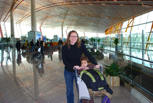 Beijing AIrport travel with Kids- Kid World Citizen